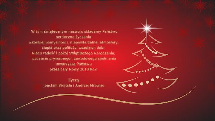 Wesołych świąt Bożego Narodzenia Oraz Szczęśliwego Nowego Roku 2019